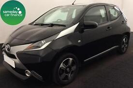 £154.14 PER MONTH BLACK 2014 TOYOTA AYGO 1.0 VVT-i X-CLUSIV 5 DOOR PETROL MANUAL