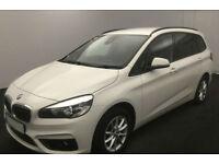 White BMW 216 1.5TD Gran Tourer 2017 d SE FROM £72 PER WEEK!