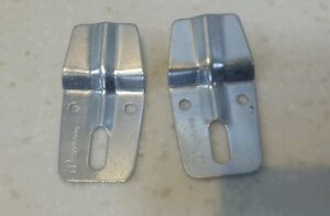 Pair of Metal Wash Basin Sink Wall Fixing Mounting Bracket Plate Clamps
