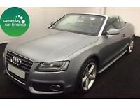 ONLY £222.73 PER MONTH GREY 2010 AUDI A5 CABRIOLET 1.8 TFSI S LINE PETROL MANUAL