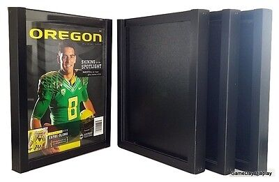 Magazine Display Frame Case Black Shadow Box Standard Lot of 4 B