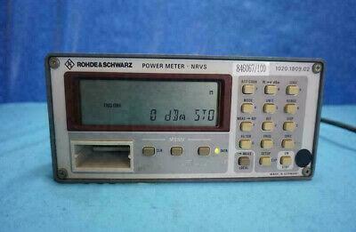 Rohde Schwarz Nrvs 1020.1809.02 Power Meter