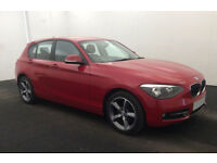 £218.87 PER MONTH STUNNING RED 2014 BMW 116 2.0TD SPORT - 5 DOOR MANUAL DIESEL