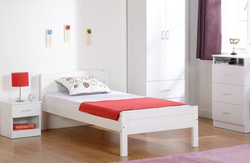 beautiful bed single bed double bed bedroom pine white cheap available now - Cheap Single Bed Frames