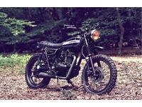 Motorcycle Scrambler Kawasaki TR250 triumph of customisation