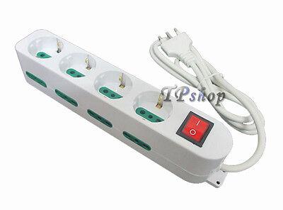 Regleta Eléctrica Zapatilla Salida 12 Lugares 4 Shuko Interruptor Seguridad