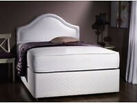 "◄❤► 1-Year-Grntee ◄❤► Brand New Double / Kingsize Divan Bed w 13"" Luxury 2000 Pocket Sprung Mattress"