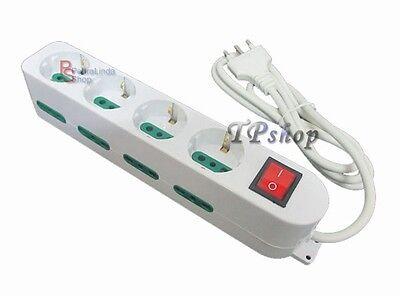 Pdr Regleta Eléctrica Zapatilla Salida 12 Lugares 4 Shuko Interruptor Seguridad