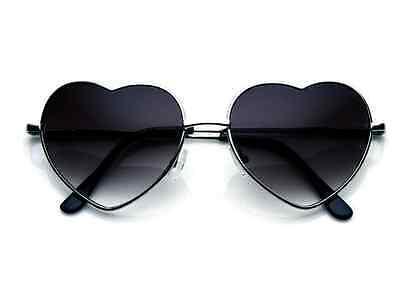 Vintage Silver Fashion Lolita Heart Shaped Aviator Metal Frame Women (Vintage Heart Sunglasses)