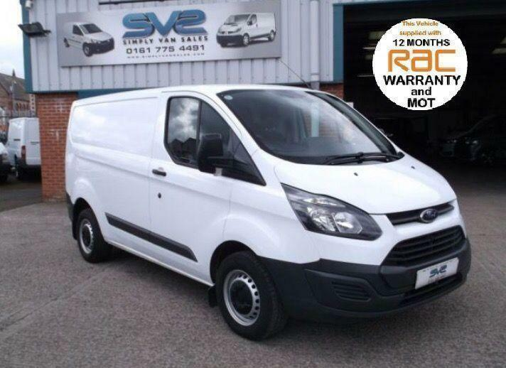 2014 14 FORD TRANSIT CUSTOM SWB 100BHP 6 SPEED WHITE 77K MILES NEW SHAPE