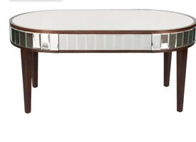 Laura Ashley mirrored coffee table