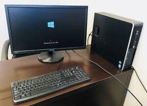 HP Compaq Desktop Computer and Monitor + Keyboard + Mouse