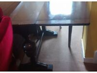 Table and chairs yew heavy round claw feet