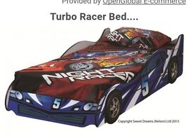 Boys turbo car bed