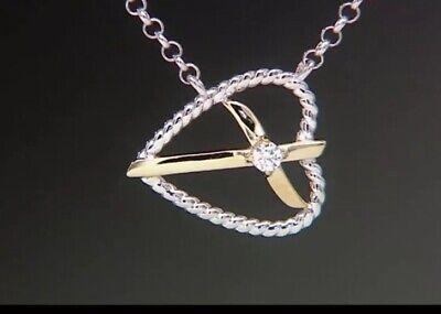 Thy Heart - Diamonique Cross Thy Heart Pendant by Steven Lavaggi