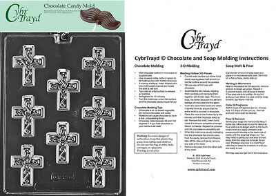 Small Cross with Swirl Chocolate Candy Mold, In Sealed Poly Bag w/Instructions](Candy Cross)