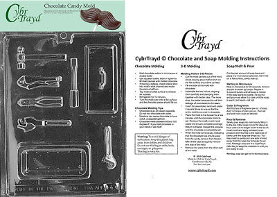 Tool Box Pour Box Chocolate Candy Mold In Sealed Poly Bag w/Instructions