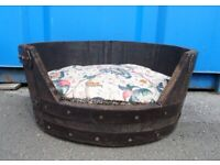 Dog Bed Hand Made from an Oak Barrel - Delivery