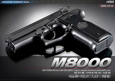 Academy Korea Beretta M8000 Cougar Airsoft Pistol BB Replica Hand Toy Gun 6mm for sale  Shipping to United Kingdom