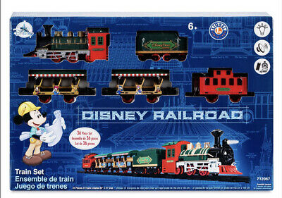Disney Parks Mickey Mouse Railroad Train 36 Piece Set by Lionel New with Box