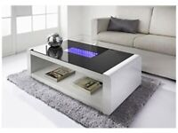 INFINITY Coffee Table Ultra Modern High Gloss Coffee Table featuring LED Lights