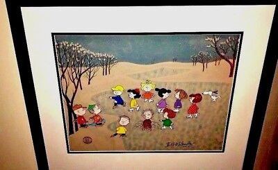 peanuts animation cel a charlie brown christmas great skate signed bill melendez