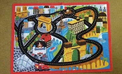 Disney Pixar Cars 2 Gastow Play Rug Carpet Mat Lightning McQueen Mater  Disney Cars Play Mat