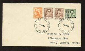 AUSTRALIA-1962-3-COLOUR-FRANKING-to-AUSTRIA-RA-NAVAL-POST-OFFICE-NUMBER-3-PMKS