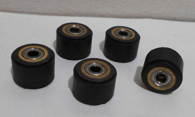 X5 Black Pinch Roller For Roland Vinyl Cutting Plotter Cutters 4mm X 11mm X 16mm