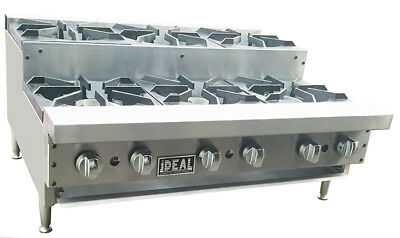 New 36 Commercial Step Up 6 Burners Hot Plate By Ideal. Made In Usa. Nsfetl .