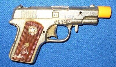 ESTATE VINTAGE HUBLEY CHAMP CAST IRON CAPGUN PISTOL AUTO CAP GUN TOY ANTIQUE .45
