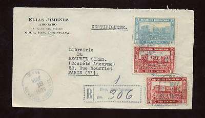 REGISTERED MAIL DOMINICAN 1929 LEGAL COVER,.. ALCAZAR