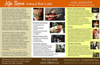 Alla Breve Music Academy in Vaughan & King City Areas