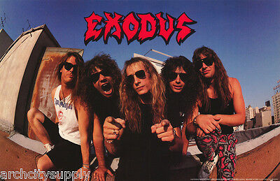 POSTER : MUSIC: EXODUS - ALL 5 POSED   - FREE SHIPPING !  #P7108  LW2 B
