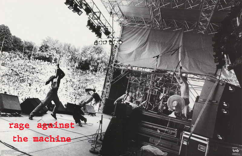 POSTER : MUSIC : RAGE AGAINST THE MACHINE - LIVE - FREE SHIPPING ! #6146  RP68 R