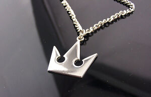Kingdom Hearts Sora Crown Roxas Cross Keyblade Necklace Pendant Figure In Stock