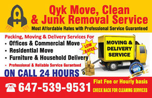 Qyk Movers, Delivers & Junk removal - Affordable & Professional