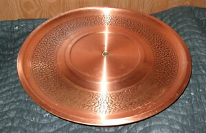 "Fantasy Copperware - 15"" Elevated Platter Strathcona County Edmonton Area image 1"