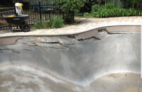 Barging And concrete pool repair