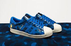 Undefeated x Bape x Adidas Men Superstar 80V - Size 8