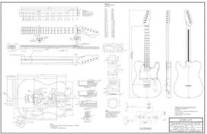 Fabrication Drawings for building a Telecaster Guitar