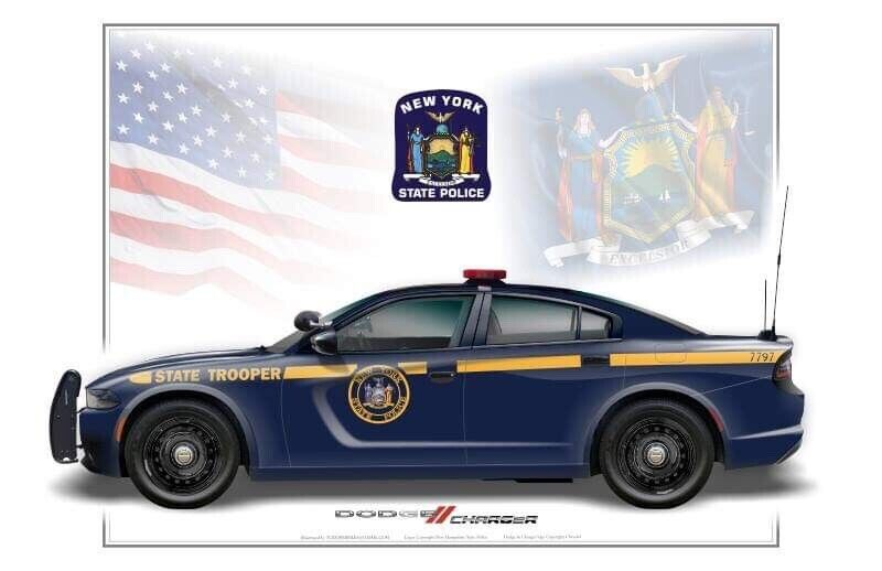 New York State Police Dodge Charger Poster Print