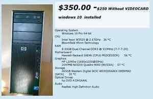 Hp Z400 workstation - Quadro 4000 video card - 8gs ram