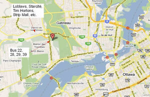APRIL ( or earlier) : 2 b/r close to downtown Ottawa (Hull)