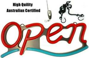 OPEN Neon Sign plate Light LED Lamp Wall Night Bar Party Restaurant Maddington Gosnells Area Preview