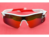 White Sport Sunglasses Mirror Lens Womens Mens for Cycling or Beach New and Unused