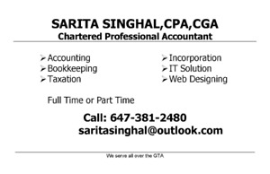 Personal & Corporate Tax Returns, Incorporation, Accounting