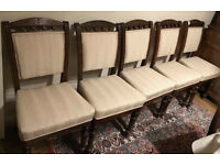 Free for collection in S10- five vintage/period chairs