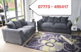 ☑️☑️ Jumbo Cord Corner Or 3+2 seater Sofa ☑️