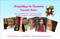 Maquilleuse de fantaisie pour enfants  /  Face painting for kids